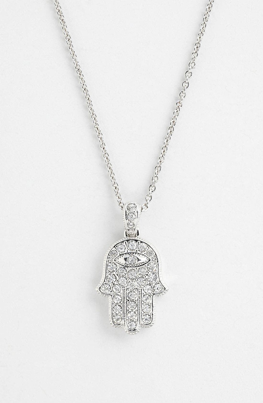 Alternate Image 1 Selected - Nadri Hamsa Pendant Necklace (Nordstrom Exclusive)