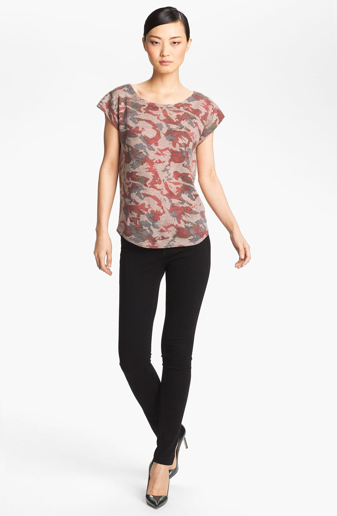 Alternate Image 1 Selected - Zadig & Voltaire 'Data' Camo Print Cashmere Tee