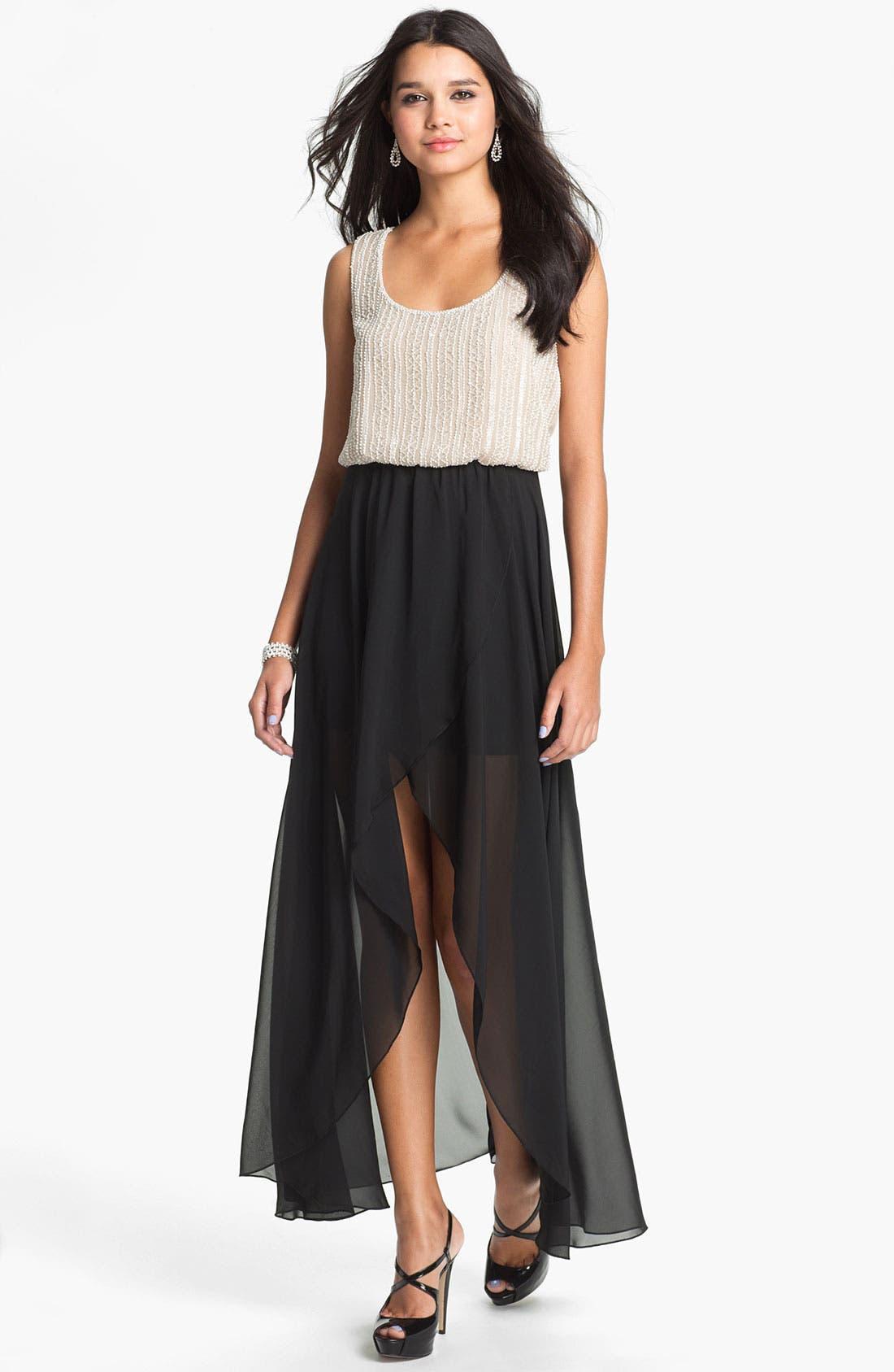 Alternate Image 1 Selected - As U Wish High/Low Maxi Dress (Juniors)
