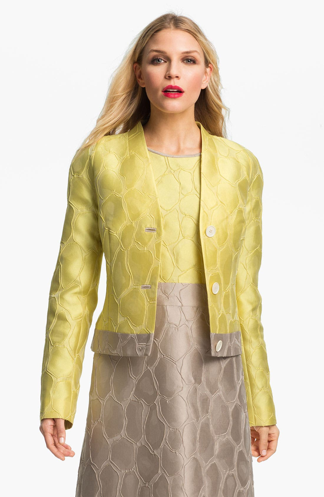 Alternate Image 1 Selected - Lafayette 148 New York 'Mala' Giraffe Jacquard Jacket