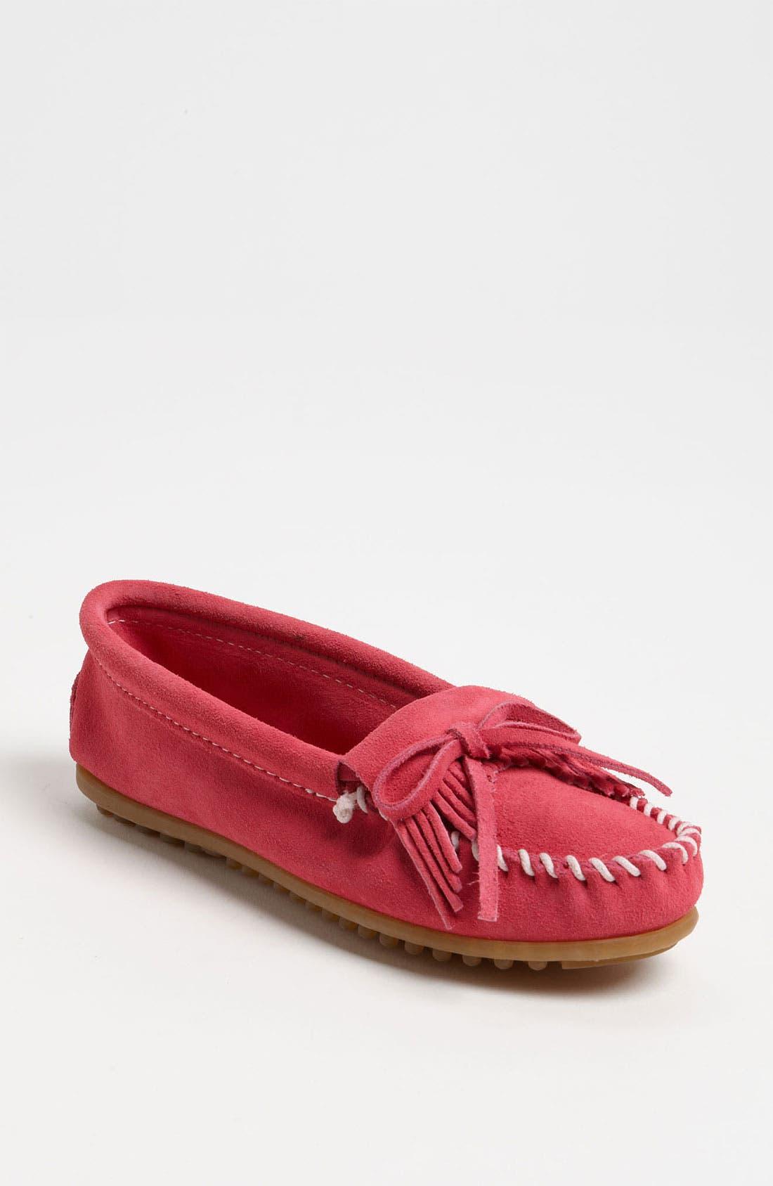 'Kilty' Suede Moccasin,                         Main,                         color, Pink