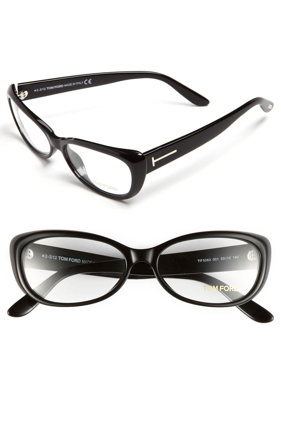 Main Image - Tom Ford Soft Cat's Eye 55mm Optical Glasses (Online Only)