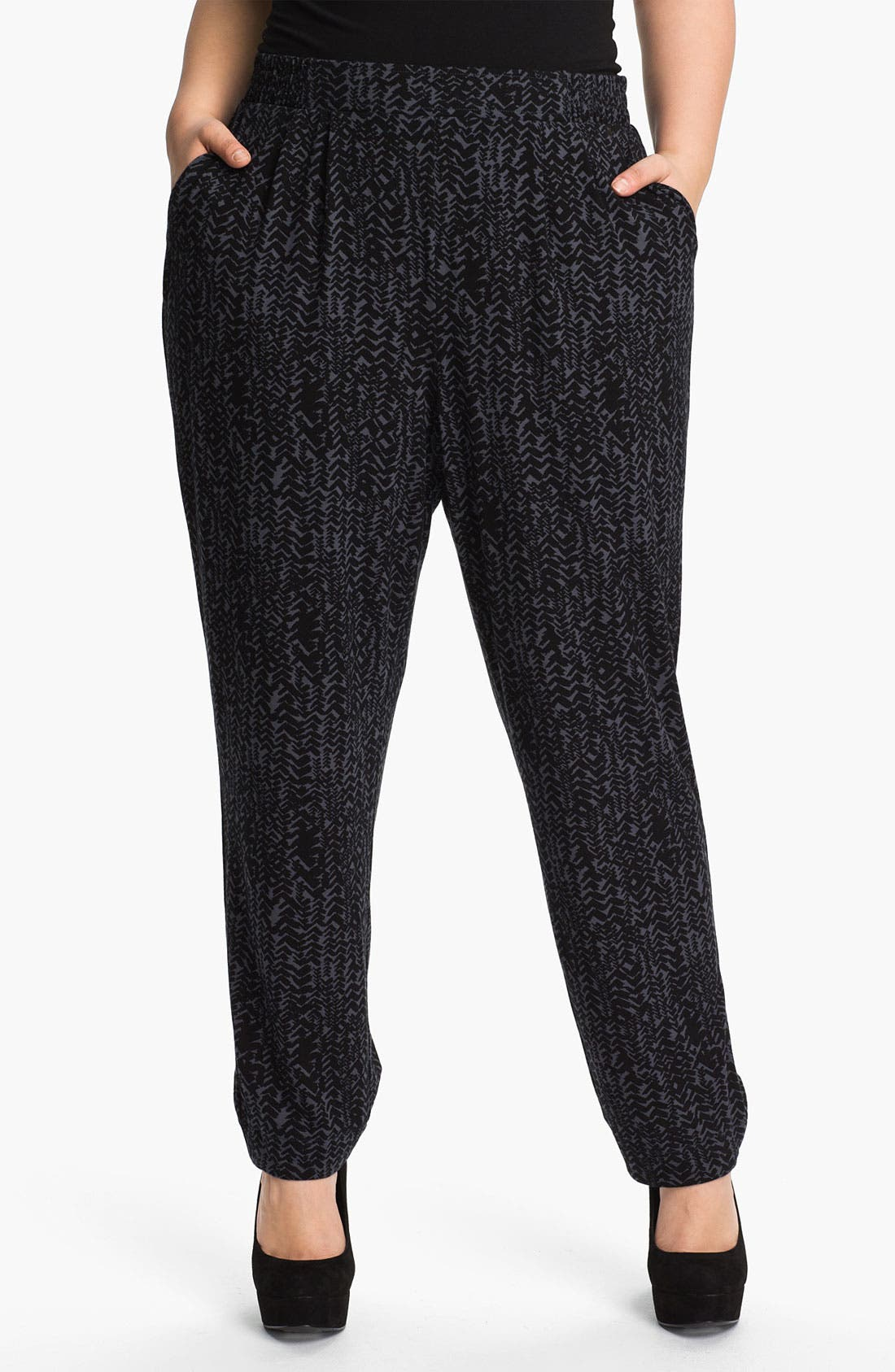 Main Image - Sejour Knit Ankle Pants (Plus)