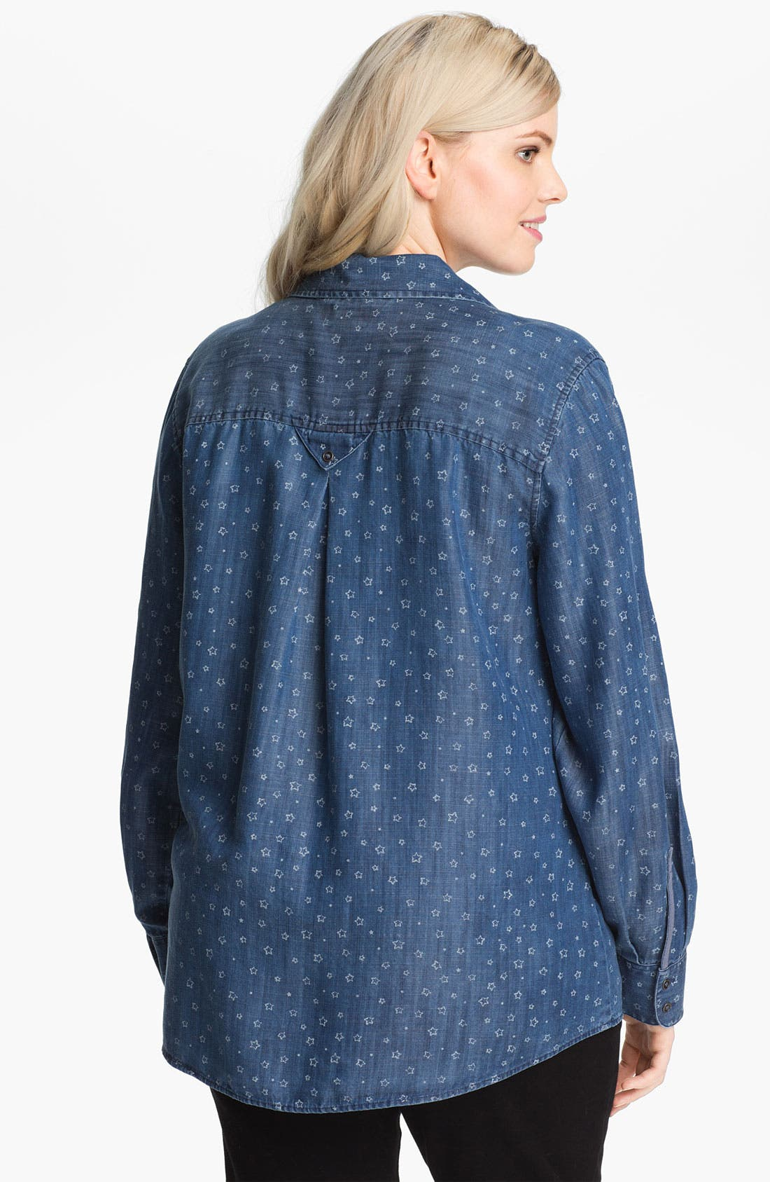 Alternate Image 2  - Shirt 469 Print Cotton Shirt (Plus Size)