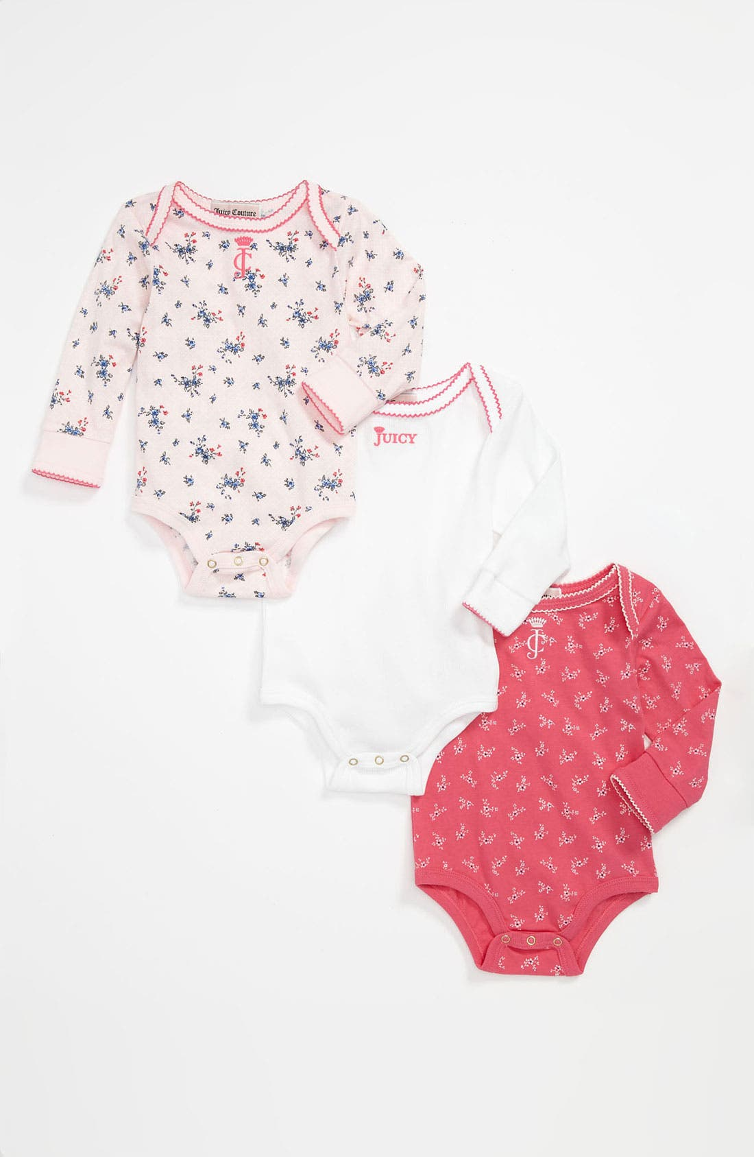 Alternate Image 1 Selected - Juicy Couture Bodysuit (3-Pack) (Baby)