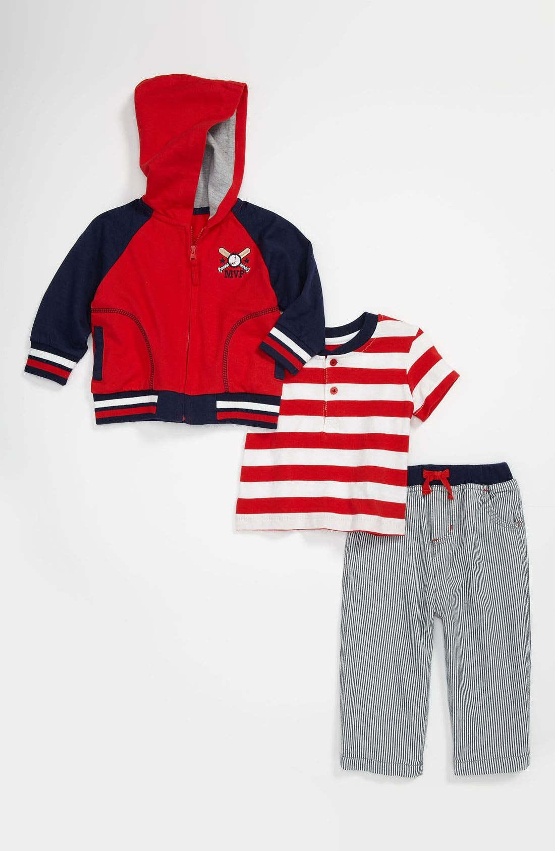 Alternate Image 1 Selected - Little Me T-Shirt, Hoodie & Pants (Infant)
