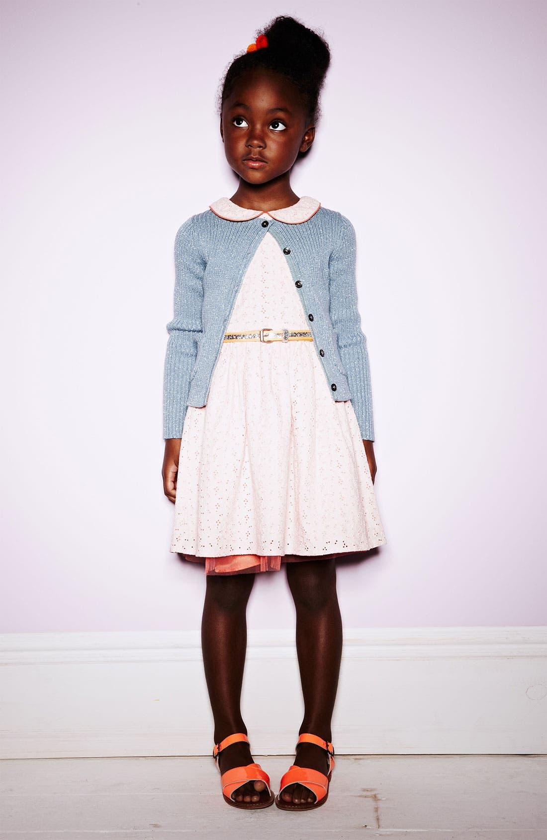 Alternate Image 2  - Mini Boden Eyelet Dress (Little Girls & Big Girls)