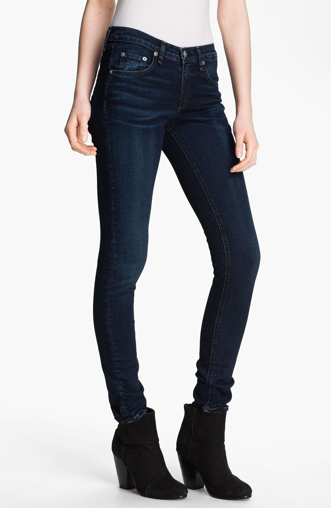 Skinny Stretch Jeans,                         Main,                         color, Woodford