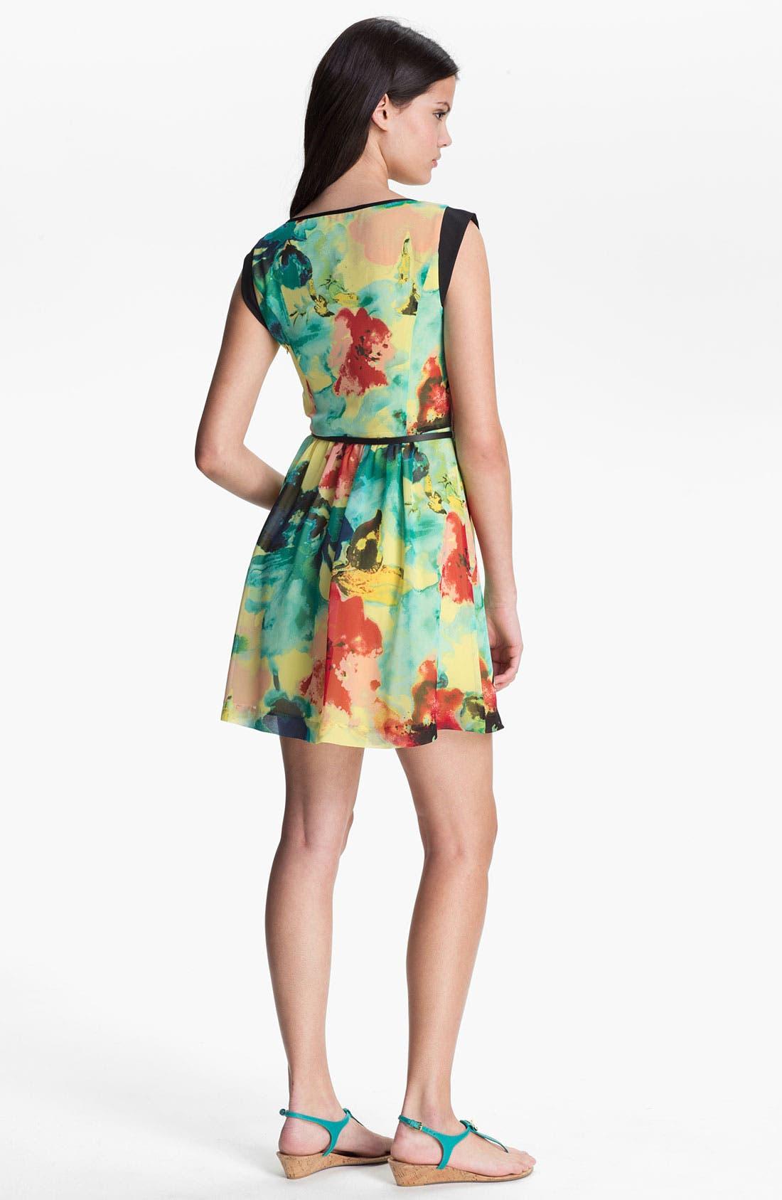 Alternate Image 2  - Kensie 'Blurred Floral' Dress
