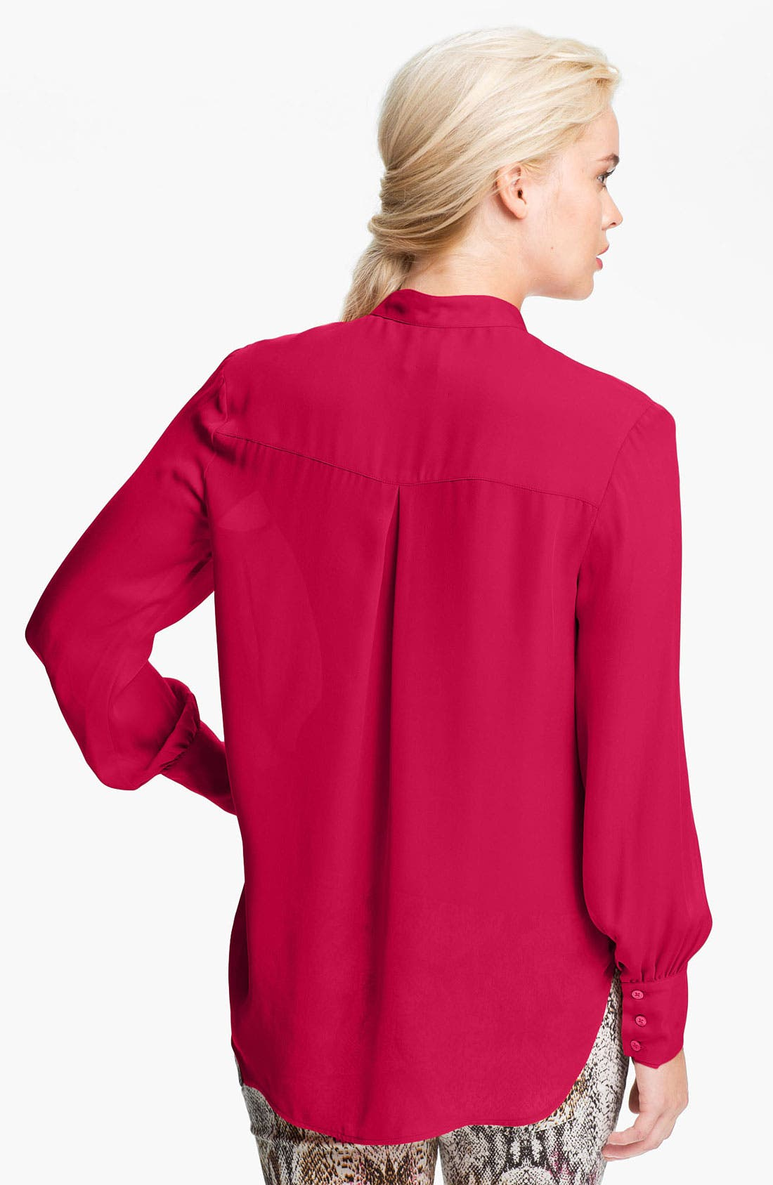 Silk Blouse,                             Alternate thumbnail 2, color,                             Freesia