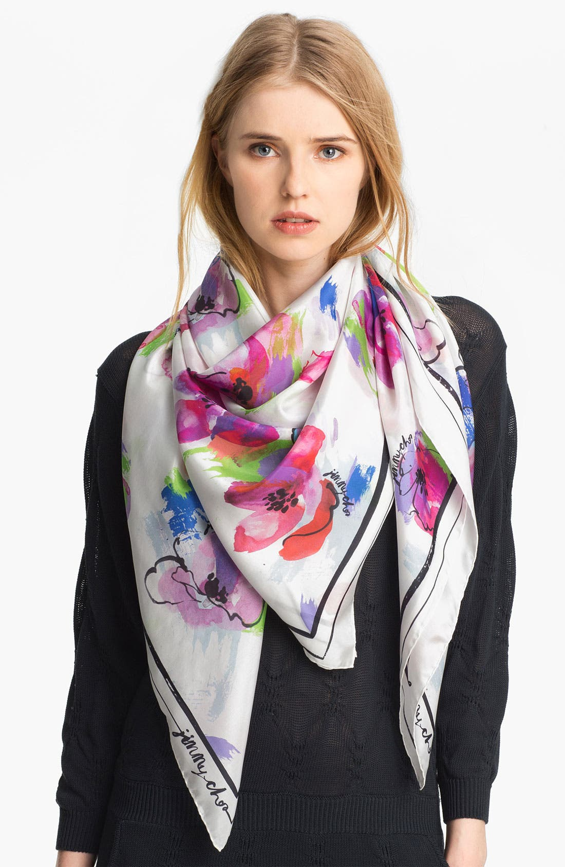 Alternate Image 1 Selected - Jimmy Choo 'Seville' Silk Scarf