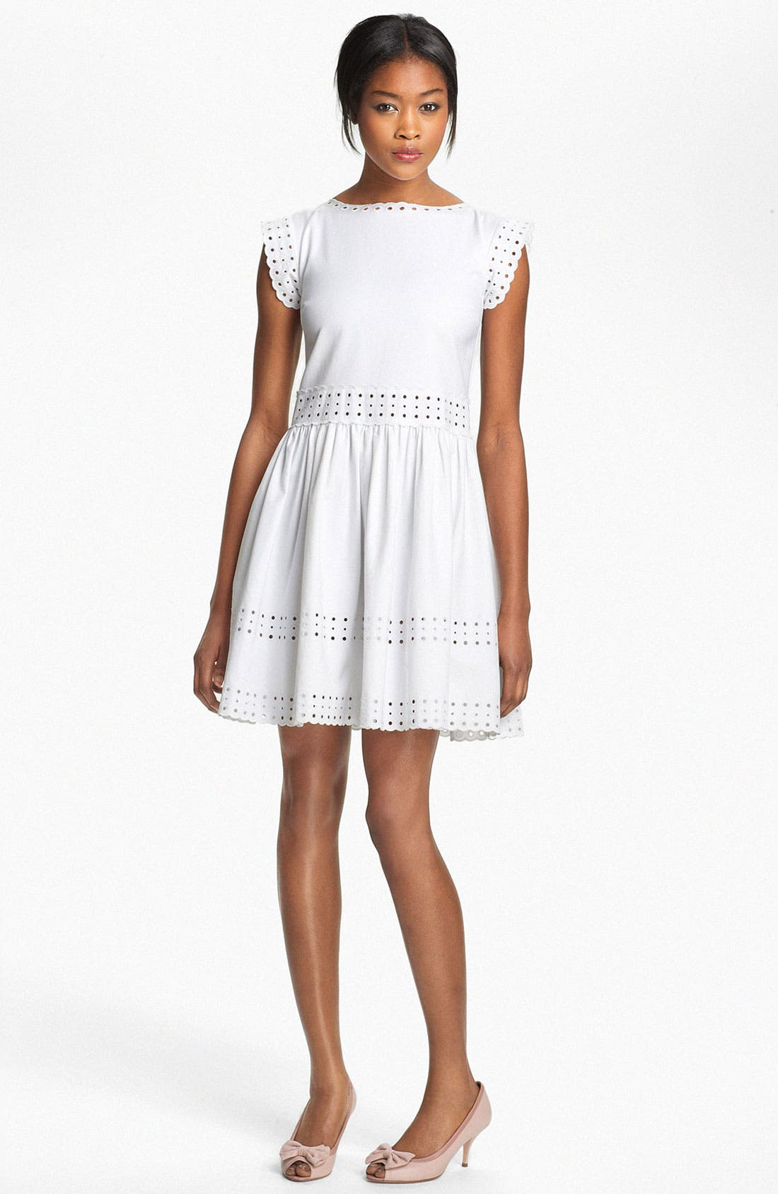Main Image - RED Valentino Embroidered Dress