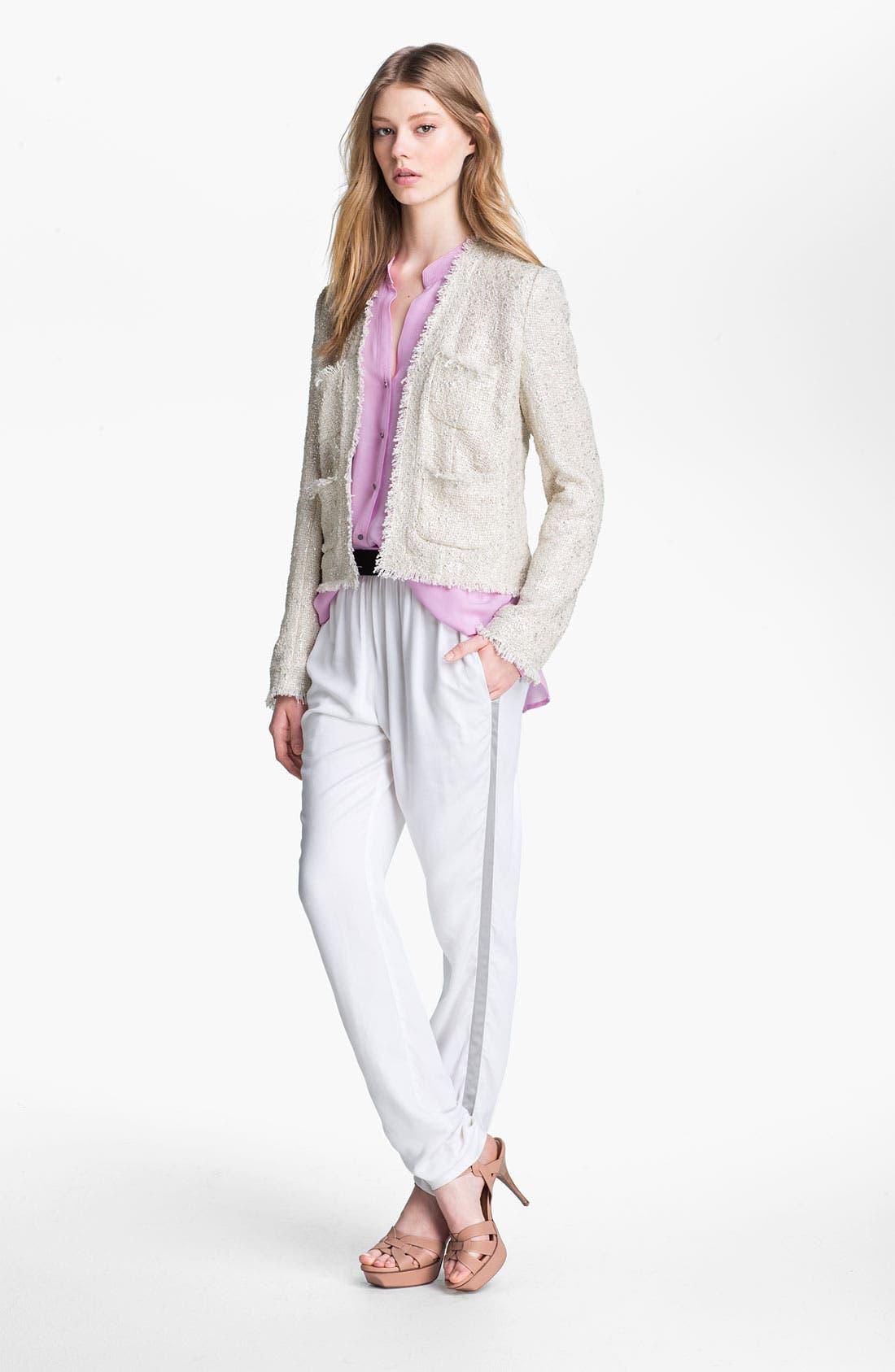 Alternate Image 3  - L'AGENCE Tuxedo Stripe Twill Pants