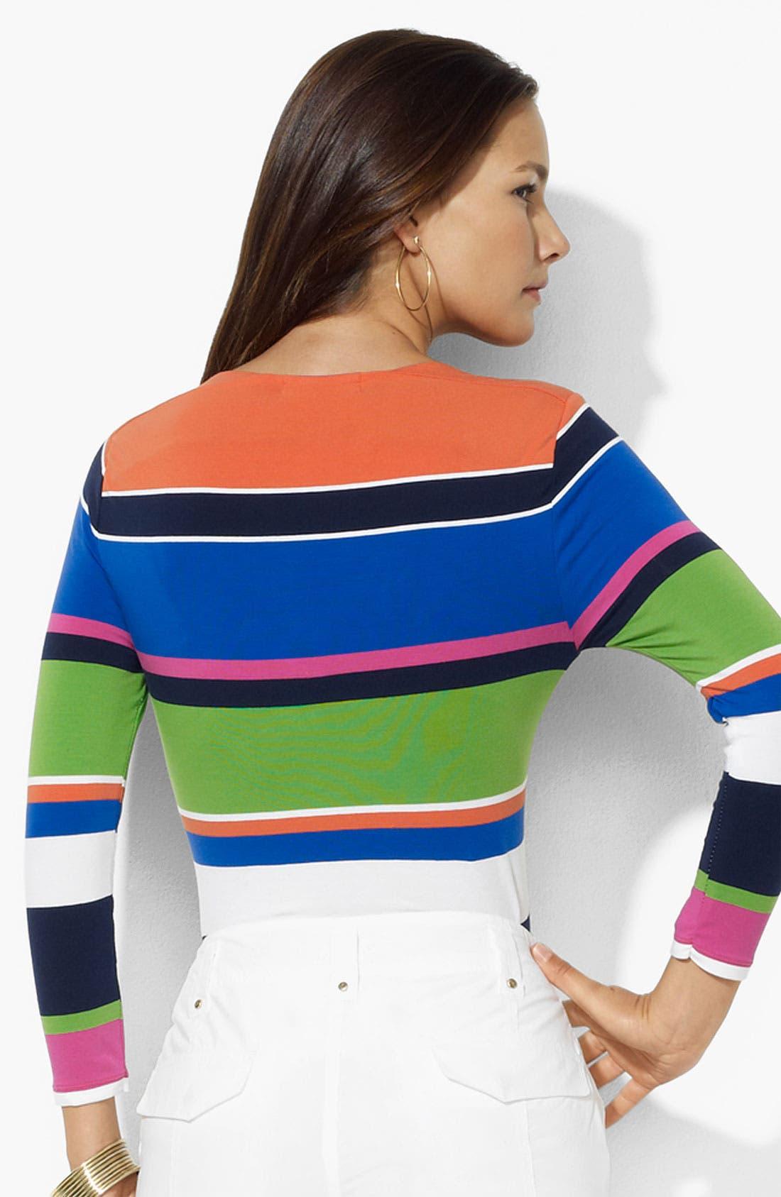 Alternate Image 2  - Lauren Ralph Lauren Stripe Top