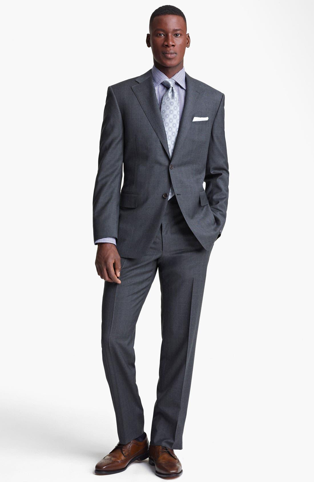 Alternate Image 2  - Canali Plaid Wool Suit