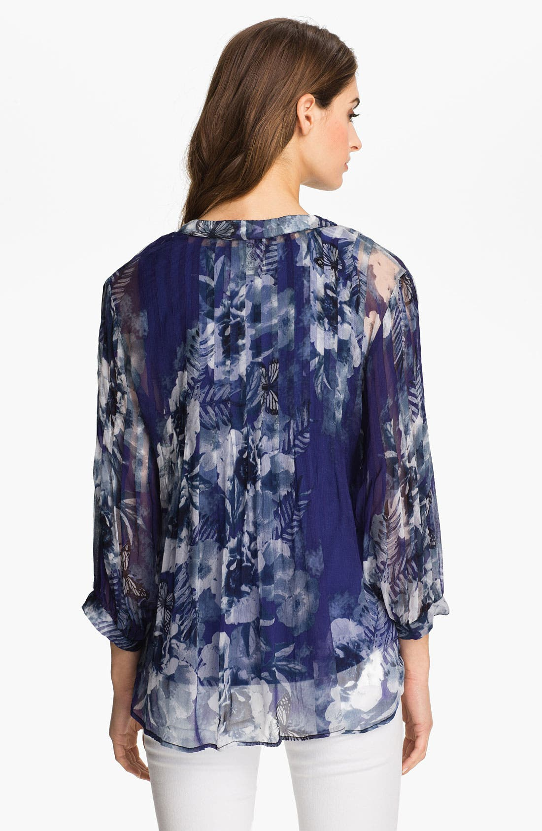 Alternate Image 2  - Casual Studio Sheer V-Neck Blouse (Nordstrom Exclusive)