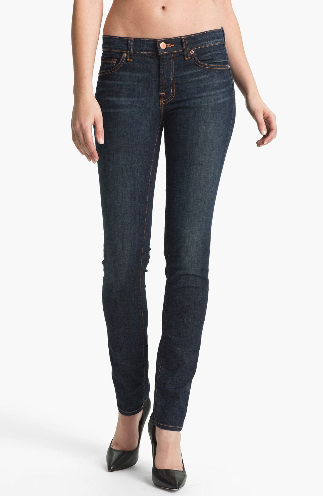 Alternate Image 1 Selected - J Brand '8112' Mid-Rise Stove Pipe Jeans (Dark Vintage)