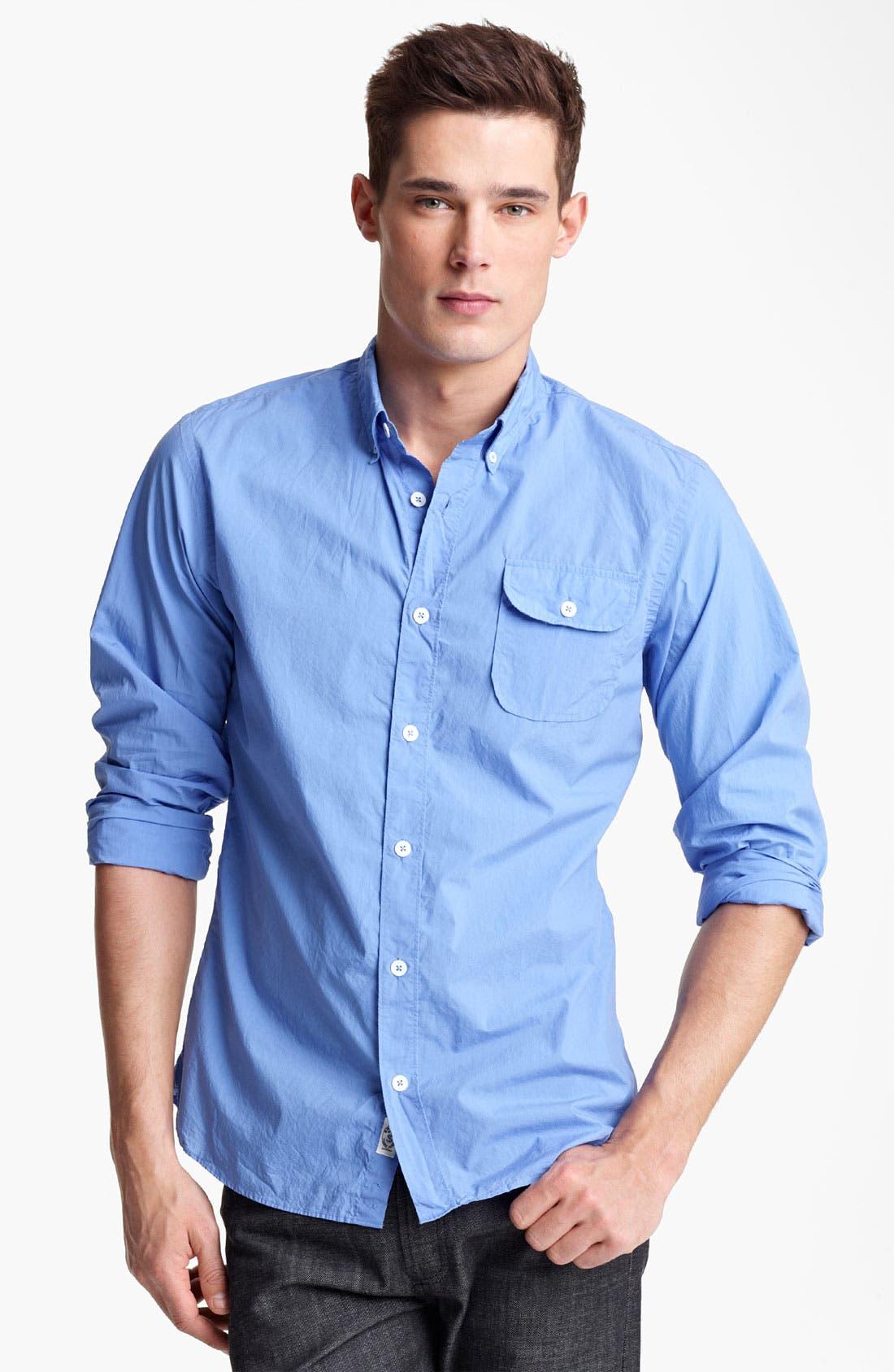 Alternate Image 1 Selected - Todd Snyder Cotton Poplin Sport Shirt