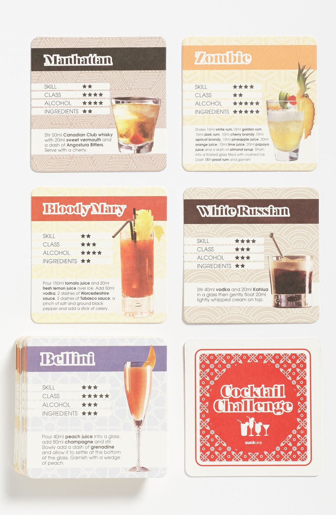 Alternate Image 1 Selected - 'Cocktail Challenge' Coasters