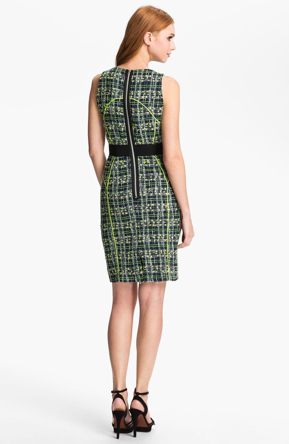 Alternate Image 2  - Milly 'Jasmine' Tweed Sheath Dress