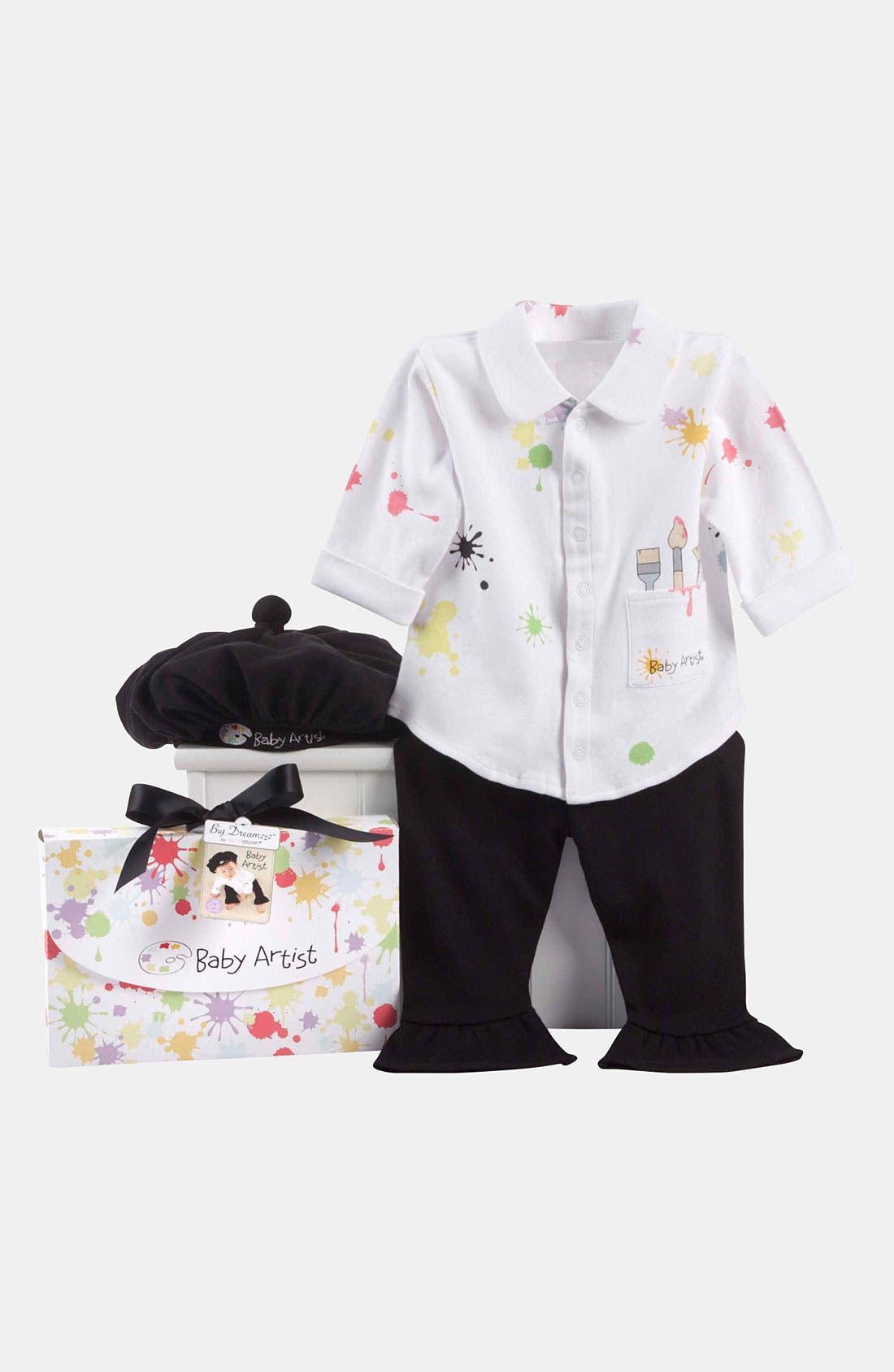 Alternate Image 2  - Baby Aspen 'Baby Artist' Shirt, Pants & Hat (Baby)