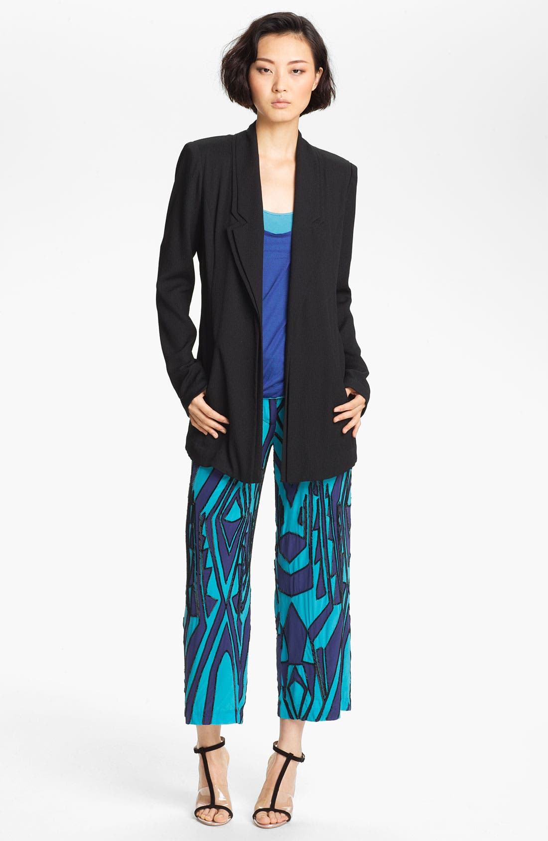 Alternate Image 3  - Tracy Reese Beaded Print Silk Crop Pants