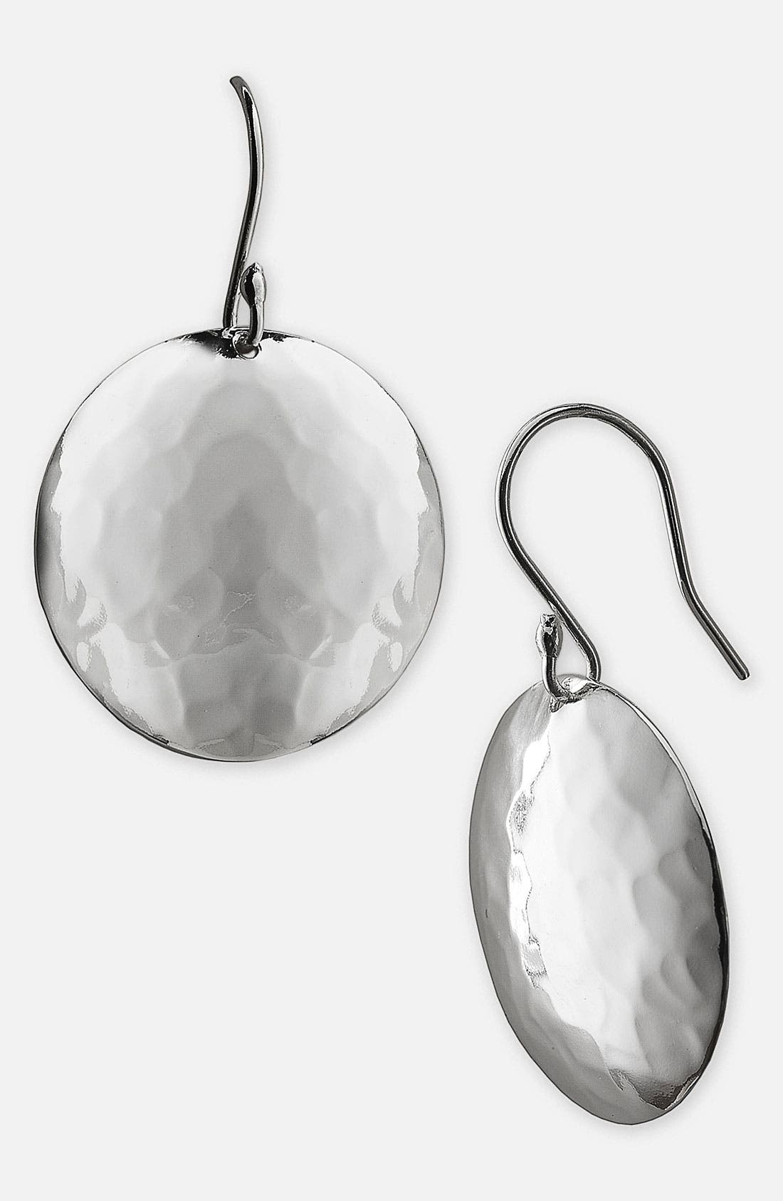Main Image - Argento Vivo Hammered Disc Drop Earrings (Nordstrom Exclusive)