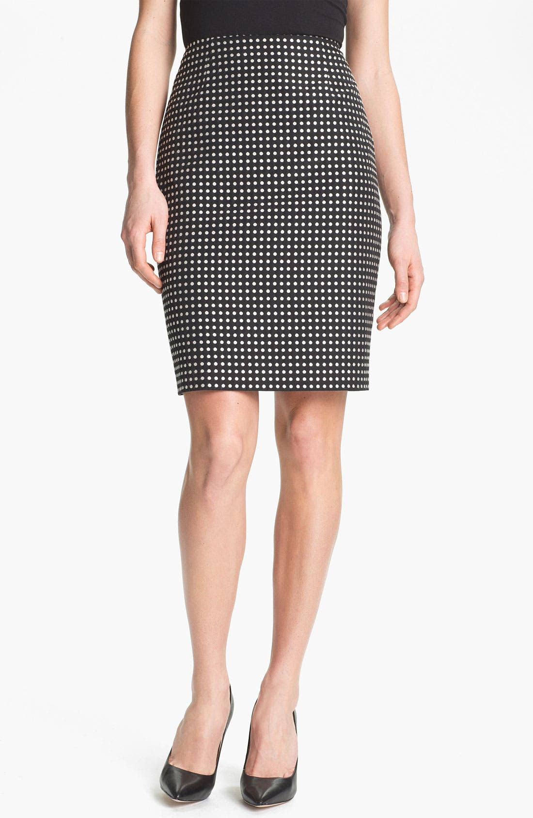 Alternate Image 1 Selected - Anne Klein Polka Dot Skirt
