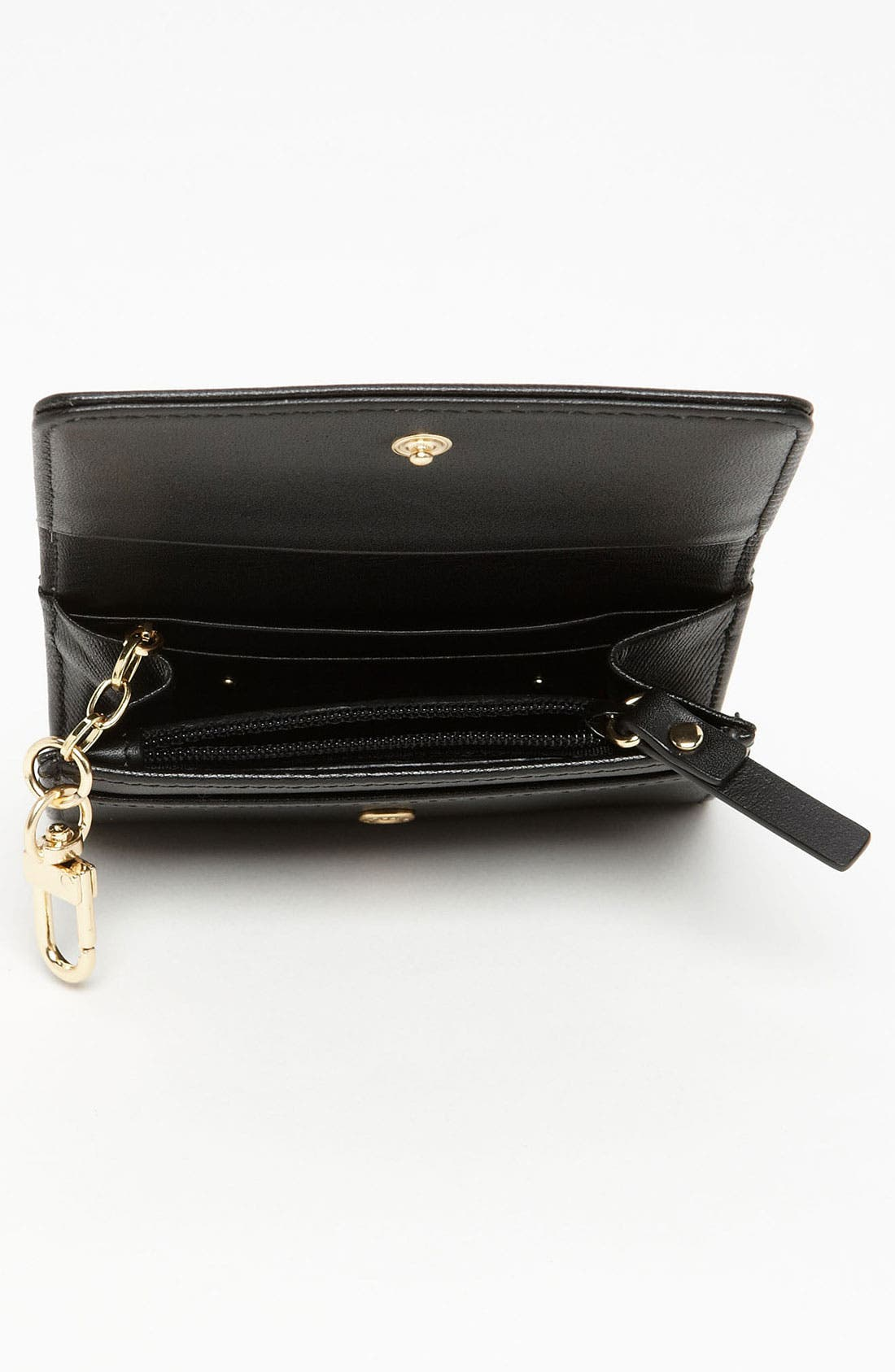 Alternate Image 3  - Halogen® 'Emily' Leather Key Clip Wallet