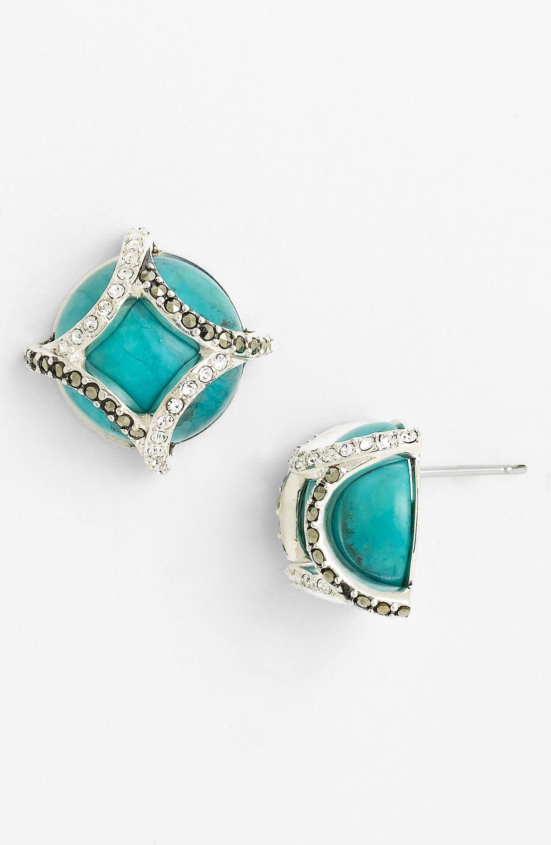 Alternate Image 1 Selected - Judith Jack 'Turq Matrix' Stud Earrings