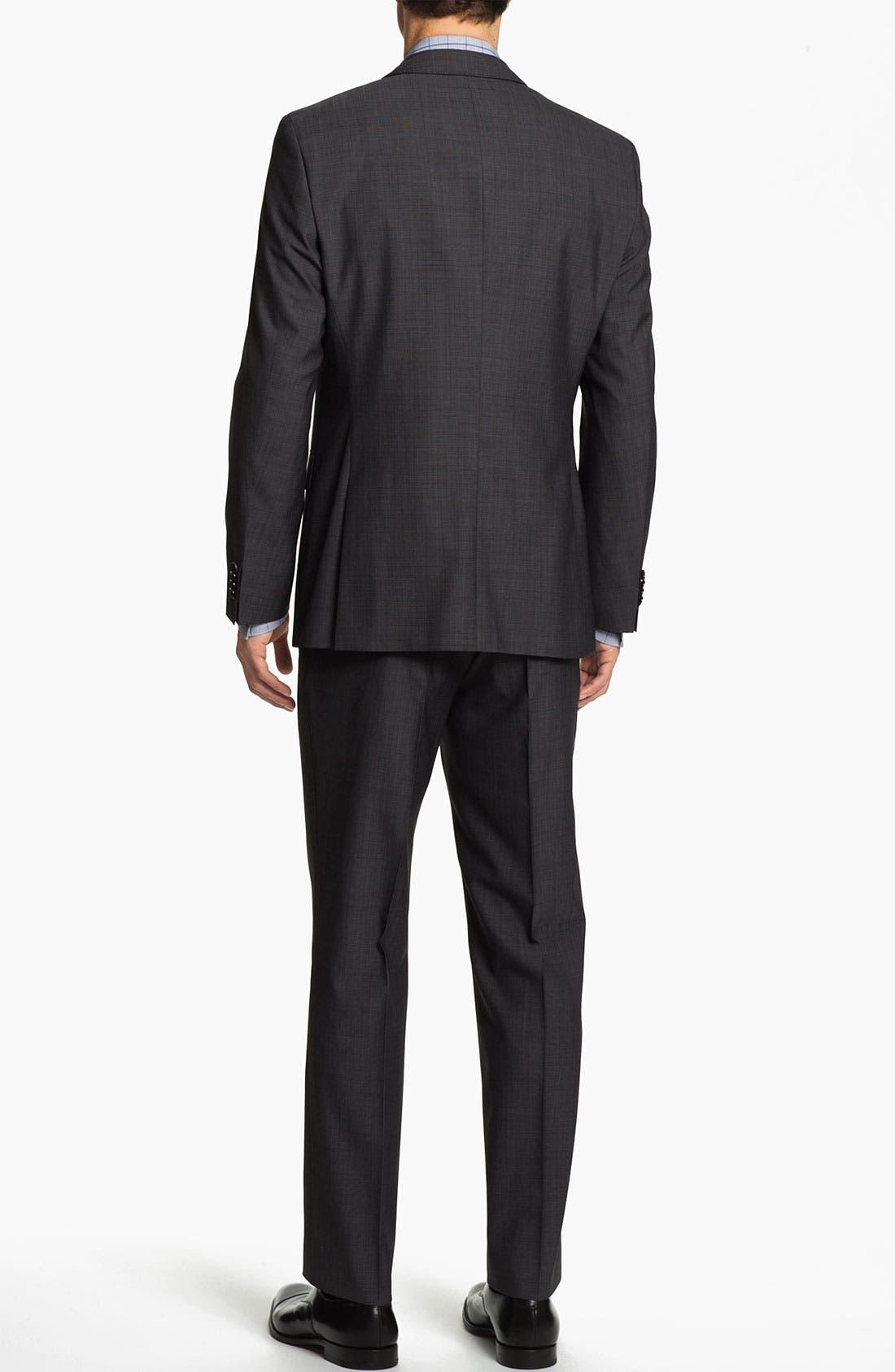 Alternate Image 3  - BOSS Black 'James/Sharp' Trim Fit Three Piece Suit