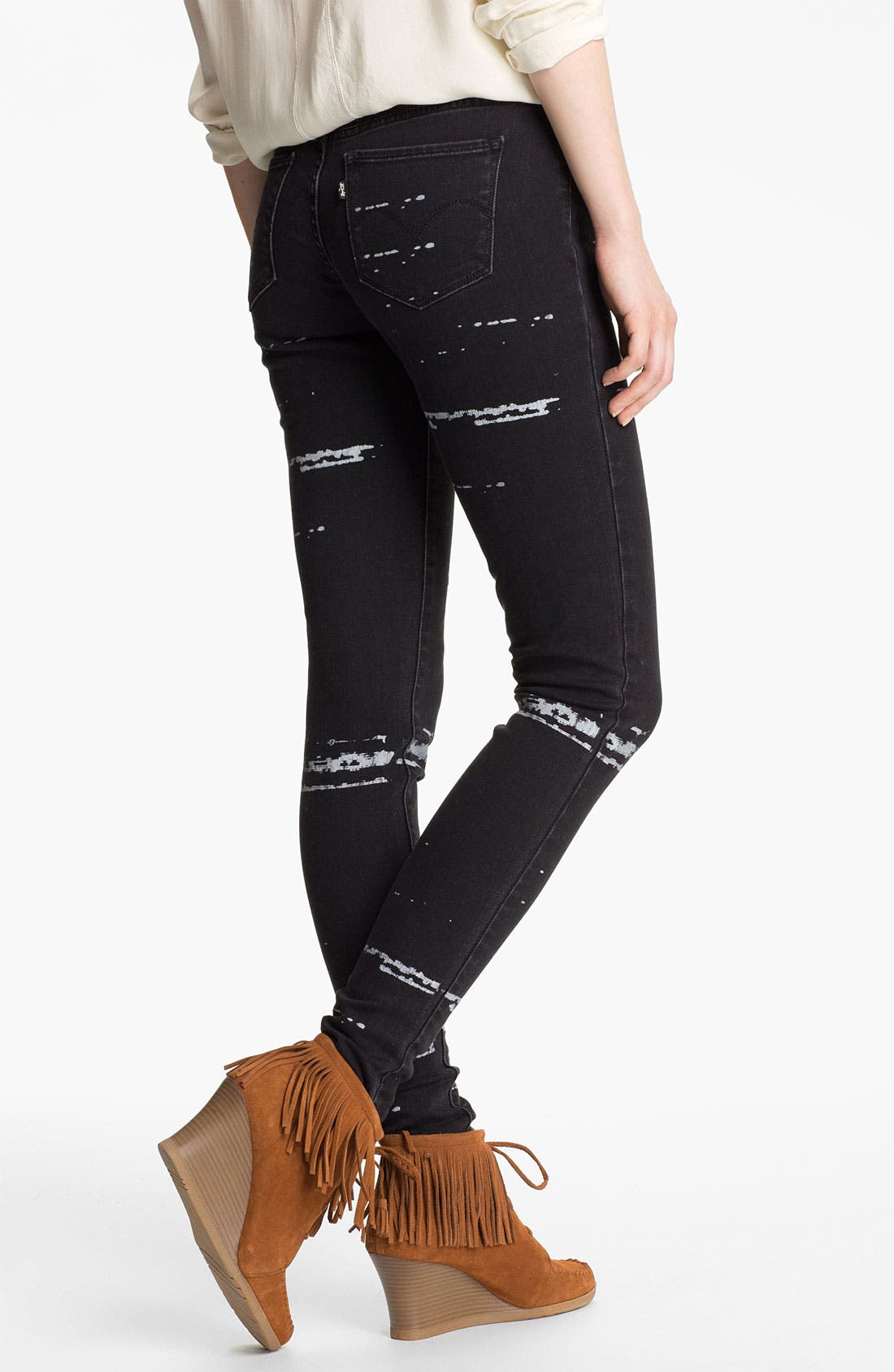 Alternate Image 1 Selected - Levi's® 'The Legging' Print Skinny Jeans