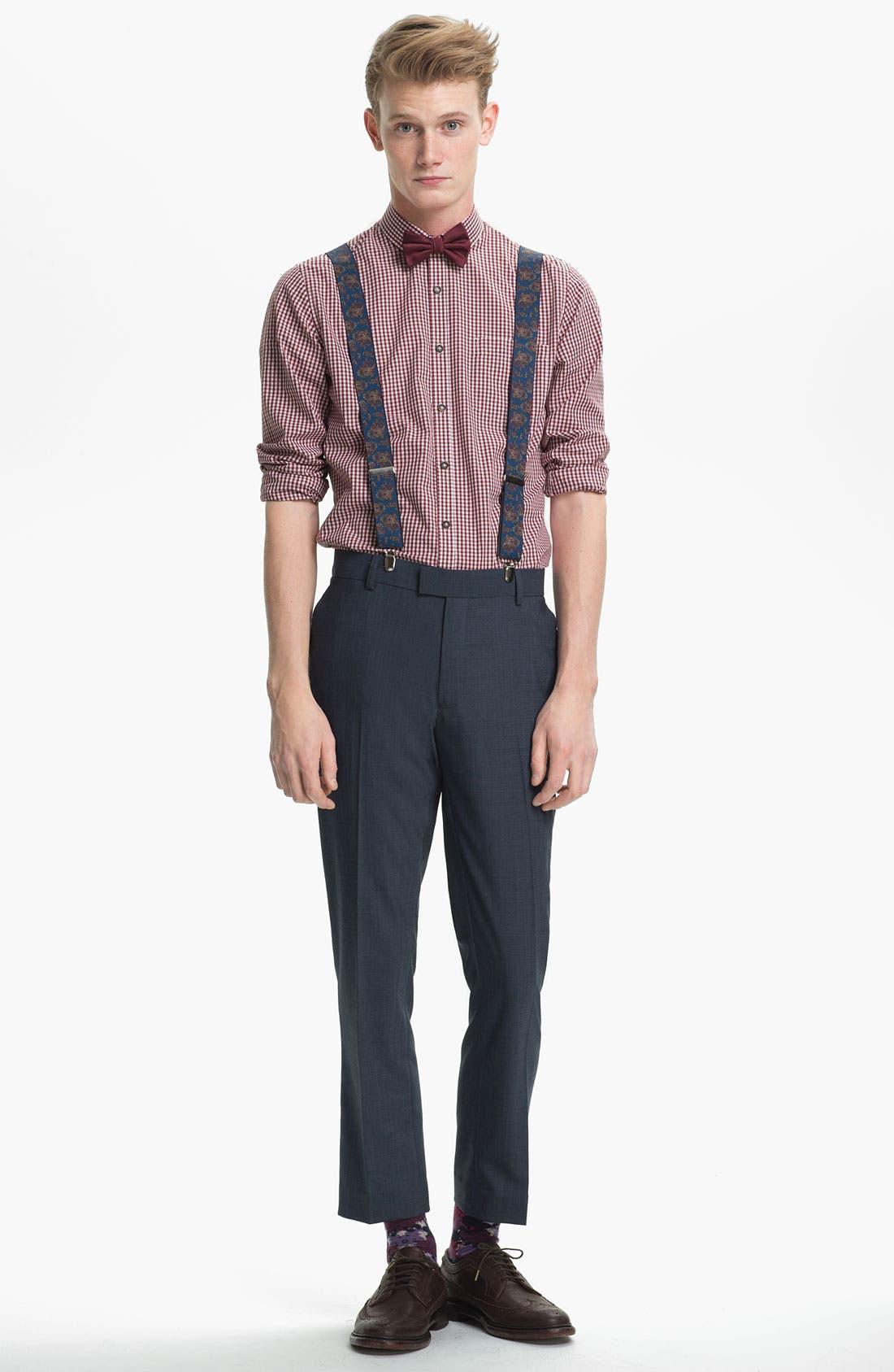 Alternate Image 3  - Topman Paisley Print Suspenders