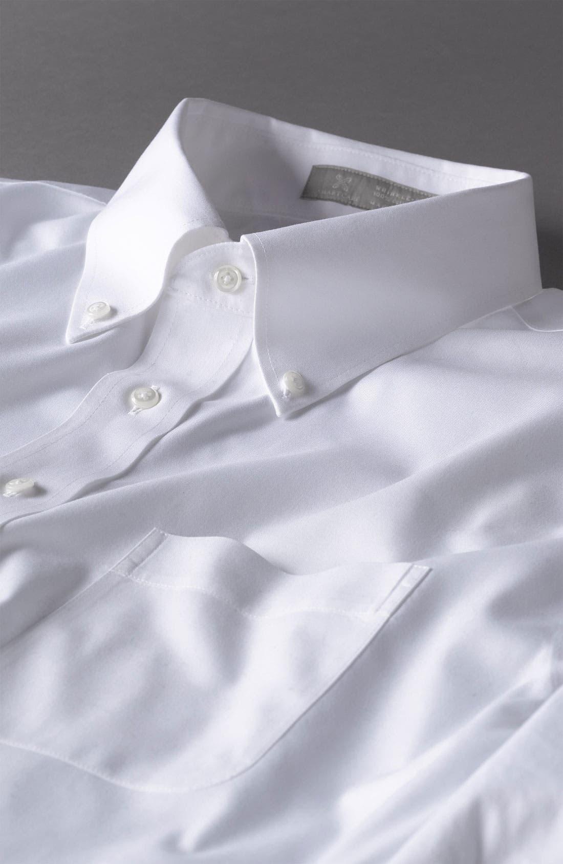 Alternate Image 5  - Nordstrom Men's Shop Smartcare™ Traditional Fit Pinpoint Dress Shirt