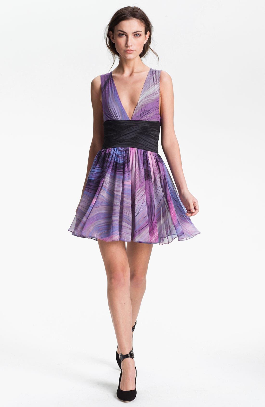 Alternate Image 1 Selected - Elizabeth and James 'Jana' Print Silk Chiffon Dress