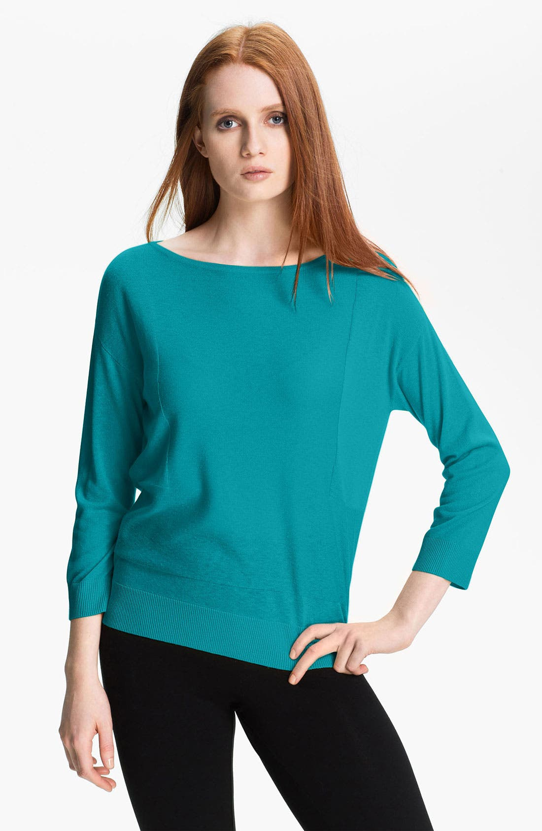 Main Image - Nordstrom Collection Silk & Cashmere Sweater