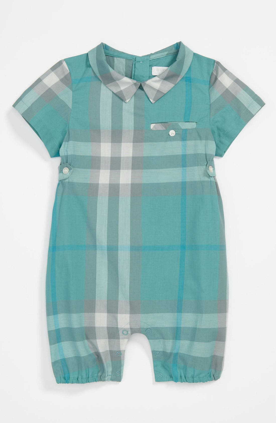 Alternate Image 1 Selected - Burberry 'Julian' Romper (Baby)