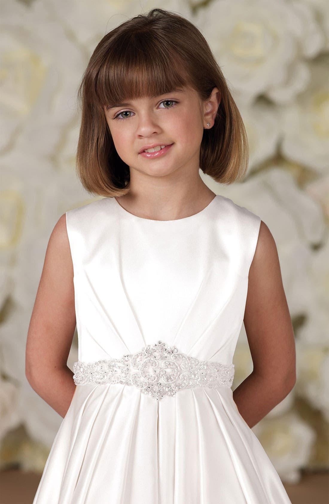 Alternate Image 2  - Joan Calabrese for Mon Cheri Jeweled Waist Dress (Little Girls & Big Girls)