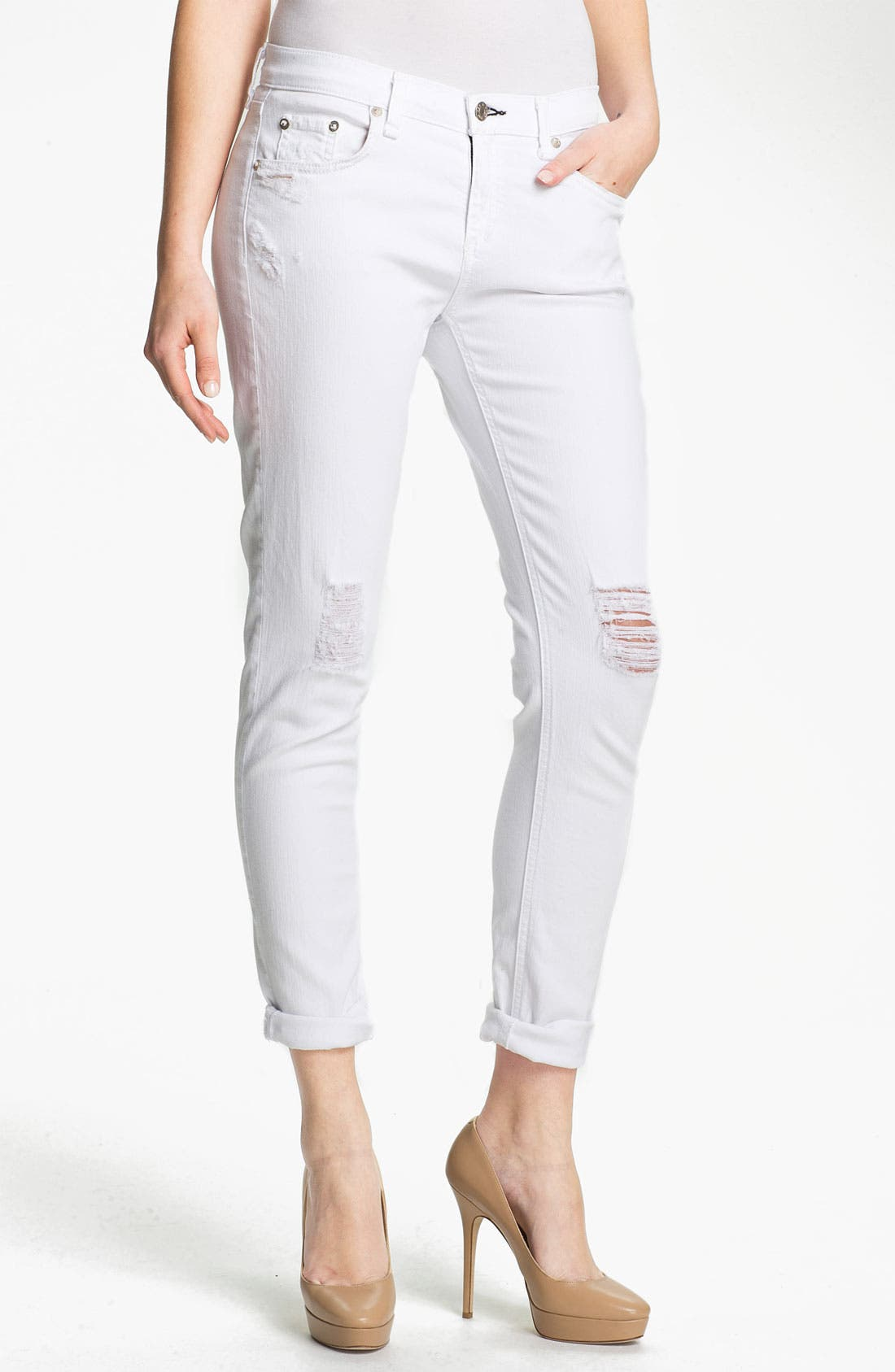 Alternate Image 1 Selected - rag & bone/JEAN 'The Dash' Slouchy Skinny Jeans