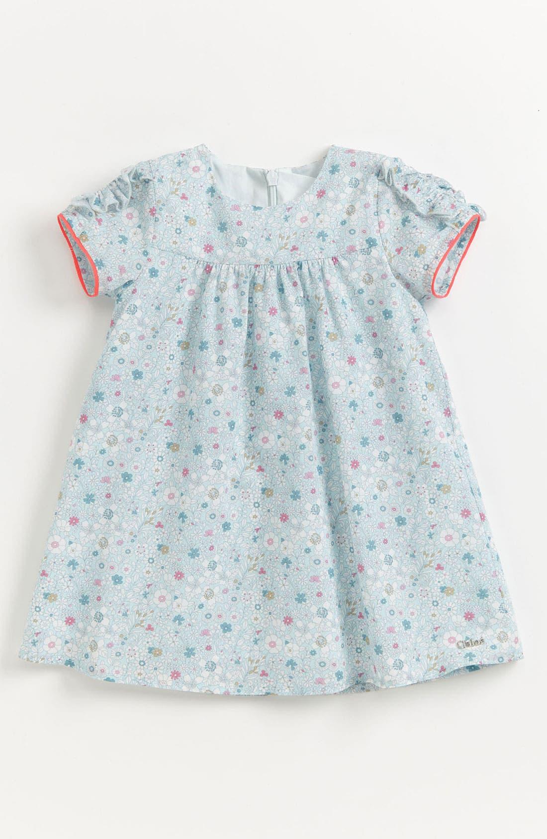 Main Image - Chloé 'Liberty Print' Floral Dress (Baby)