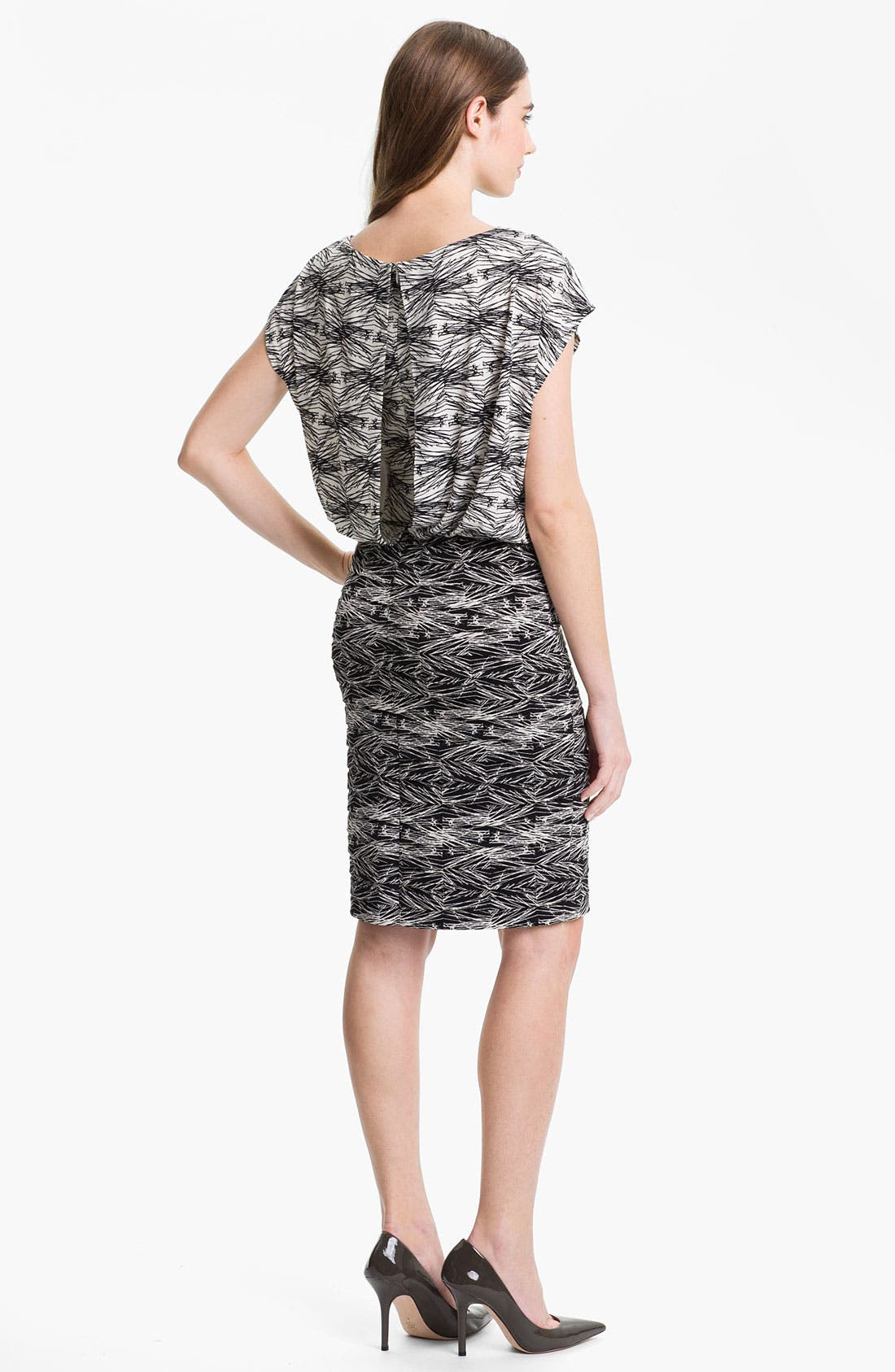 Alternate Image 2  - Adrianna Papell Print Jersey Blouson Dress