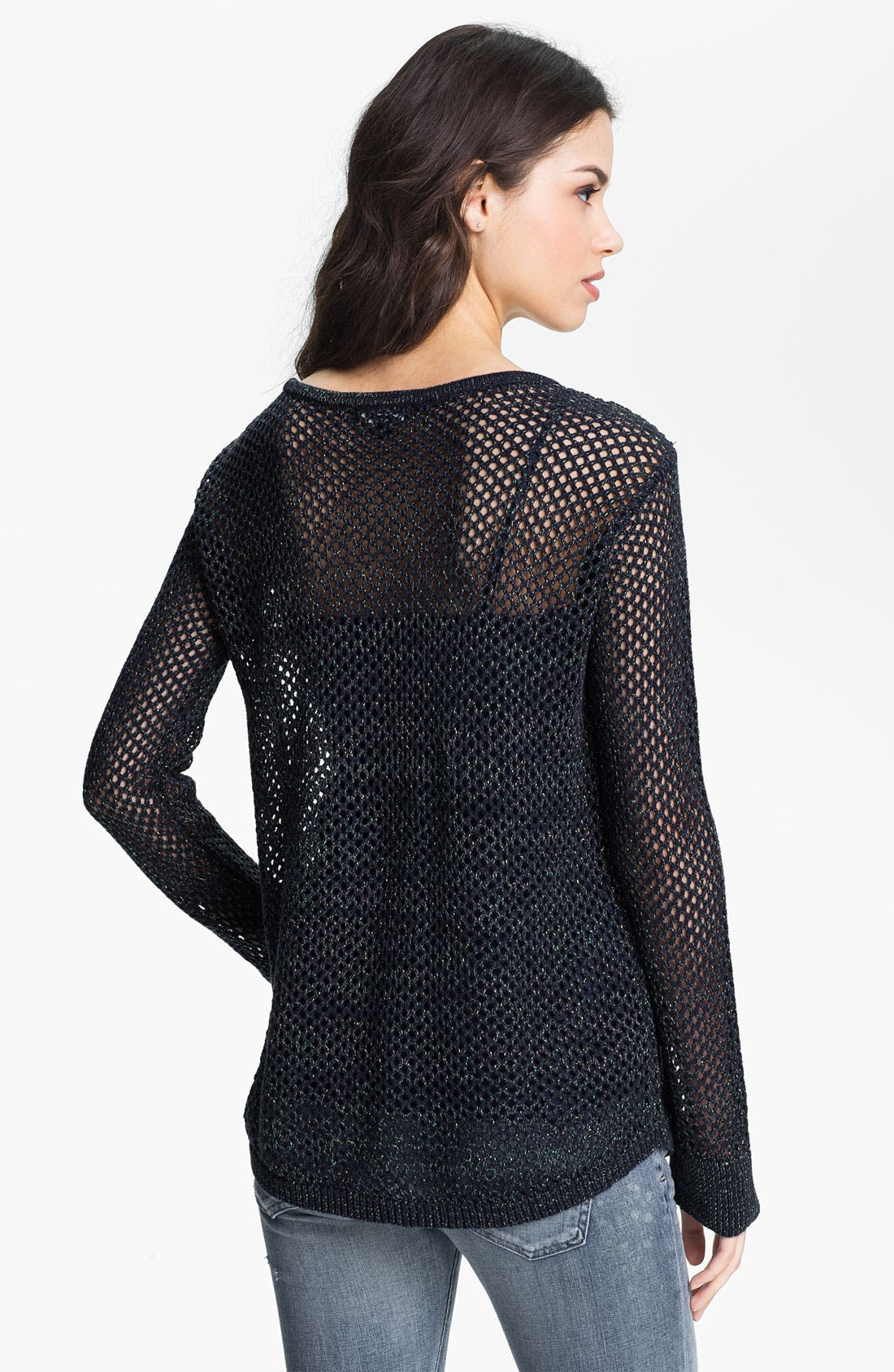 Alternate Image 2  - Trouvé Metallic Mesh Sweater