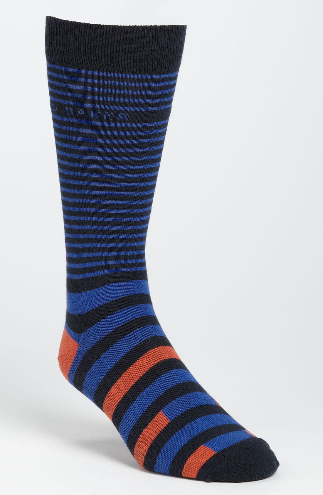 Stripe Socks,                         Main,                         color, Bright Blue
