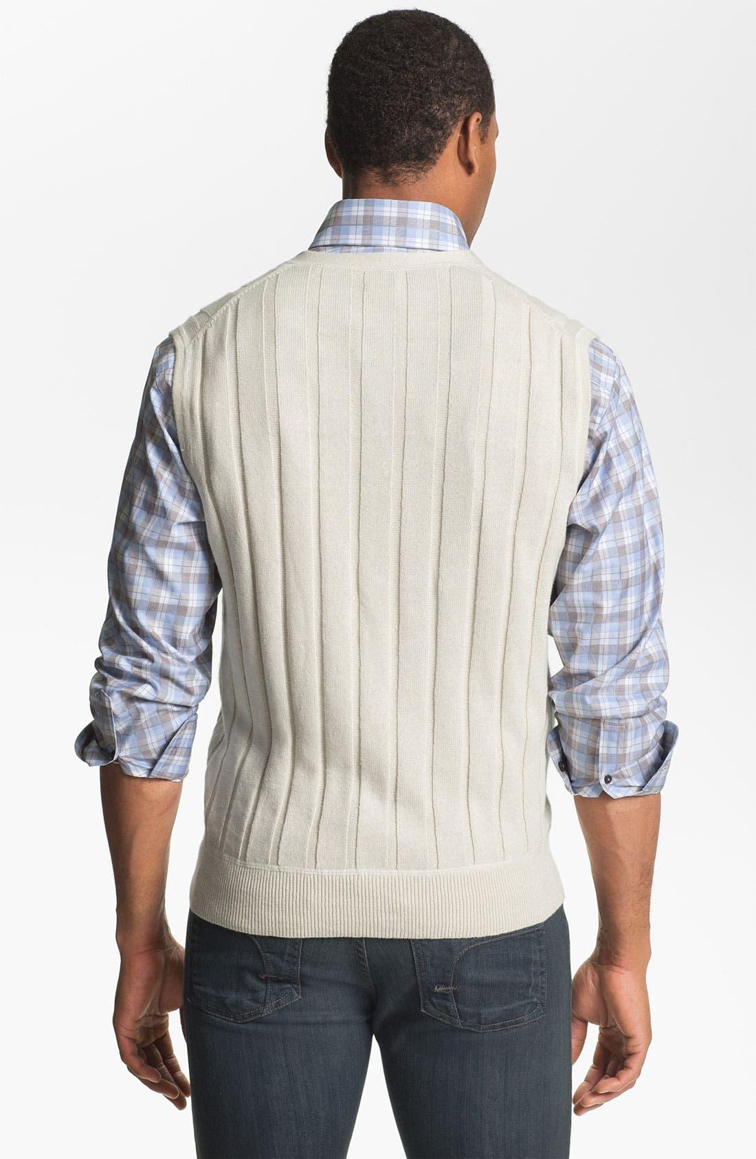 Alternate Image 2  - Robert Talbott Linen & Cotton Sweater Vest