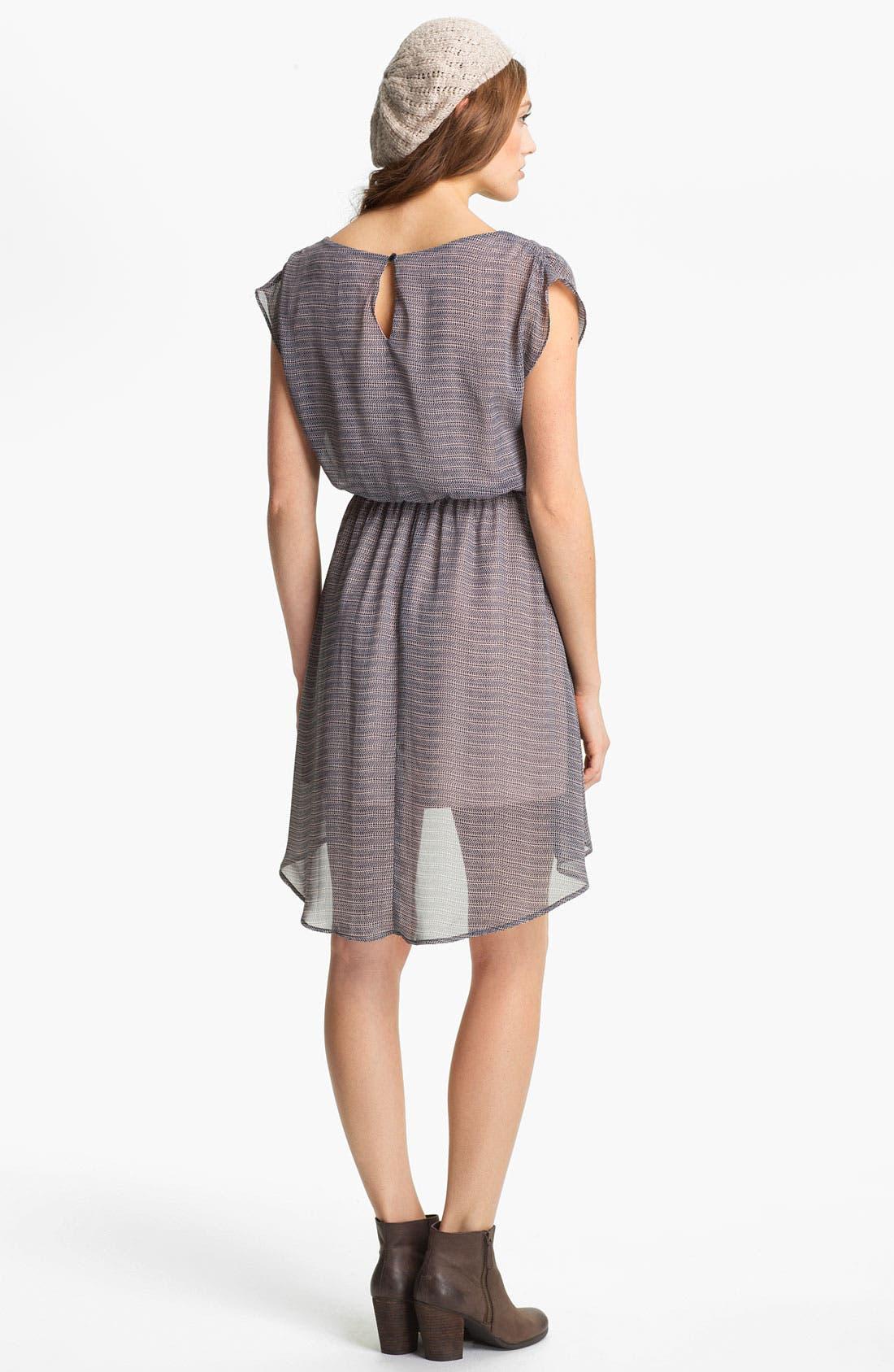 Alternate Image 2  - Lush 'Dakota' Chiffon Dress (Juniors)