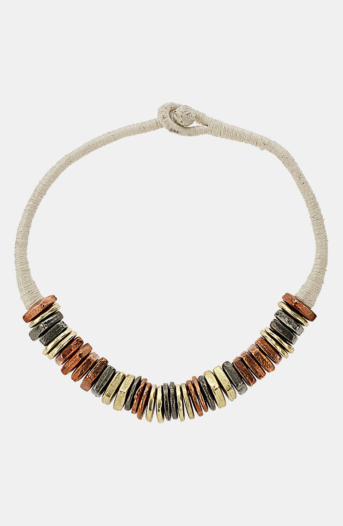 Alternate Image 1 Selected - Topshop 'Cord & Bolts' Collar Necklace