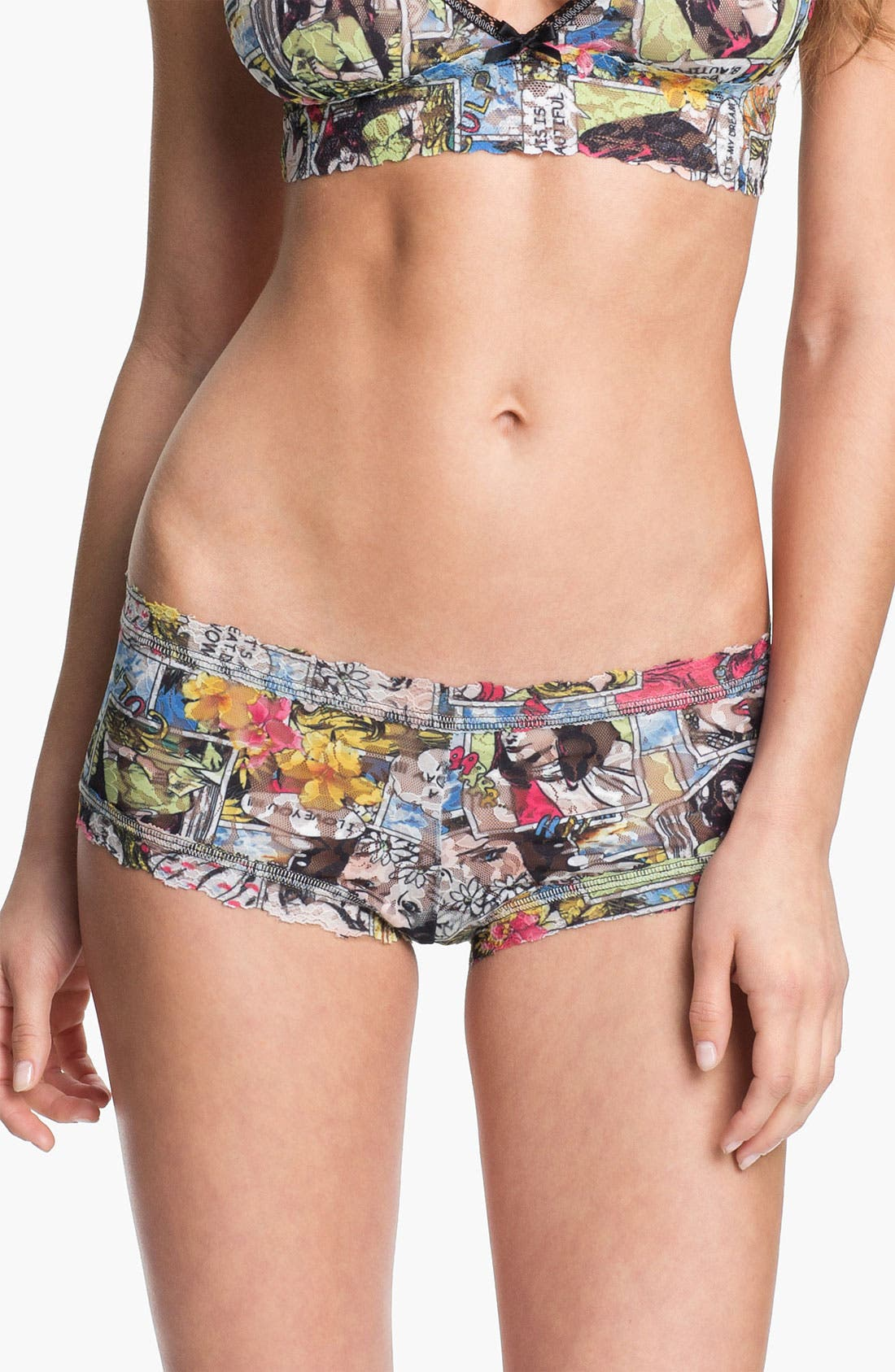 Alternate Image 1 Selected - Hanky Panky 'Comic Strip' Boyshorts