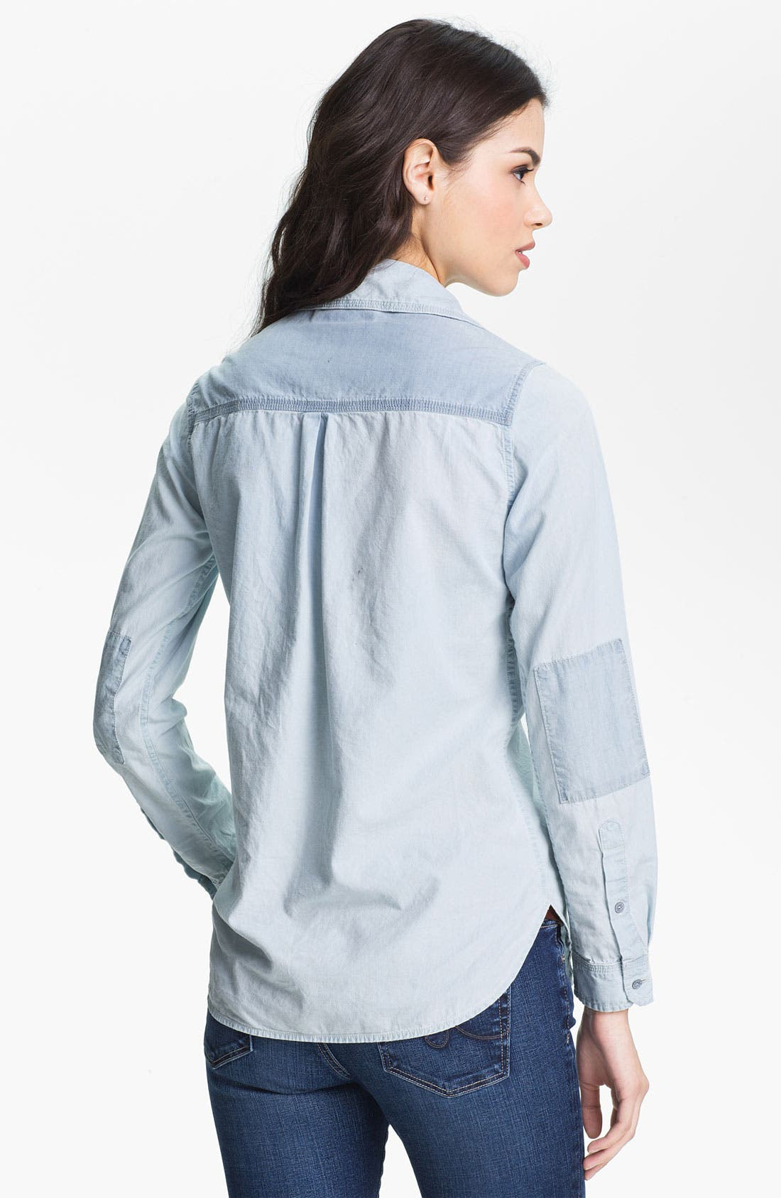 Alternate Image 2  - Maison Scotch Two Tone Chambray Shirt