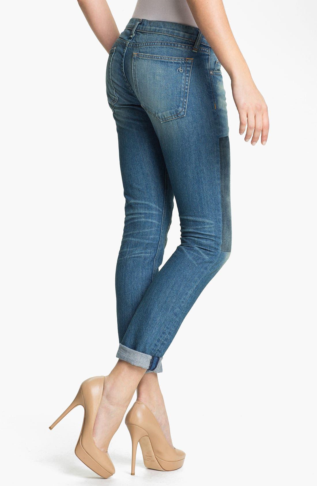 Alternate Image 2  - rag & bone/JEAN 'The Dre' Patch Detail Rigid Jeans