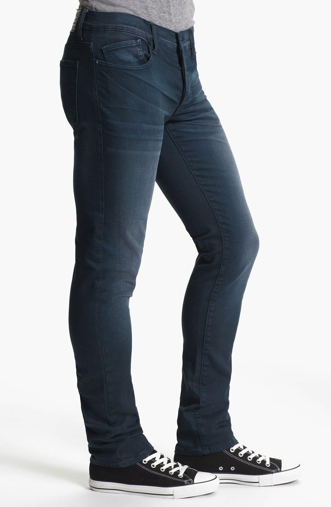 Alternate Image 3  - Kill City 'Wire' Slim Skinny Leg Jeans (Navy)